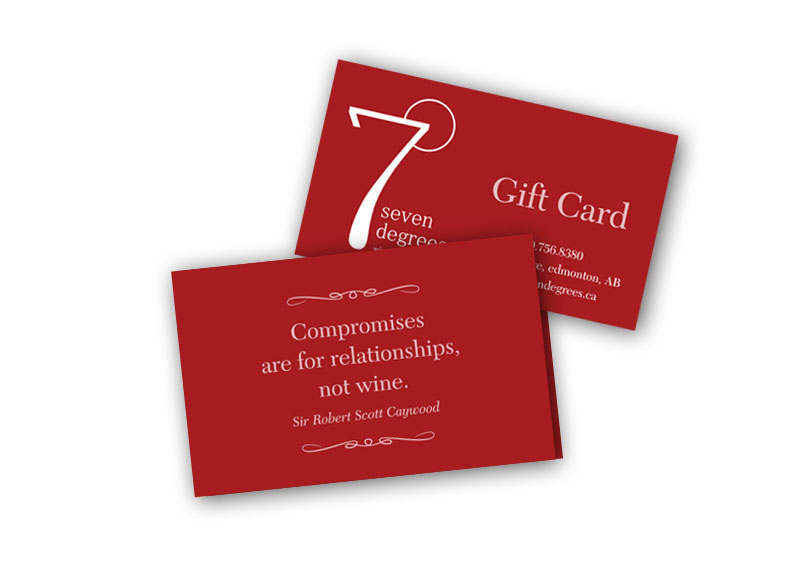 7 Degrees Gift Card